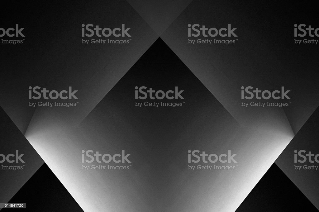 Abstract black and white architectural background composition in minimalism style stock photo