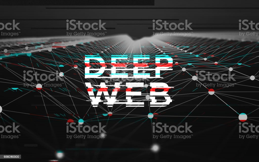 Abstract Black And White Data Mesh Glitch Illustration Background With Big  Deep Web Text Stock Photo - Download Image Now