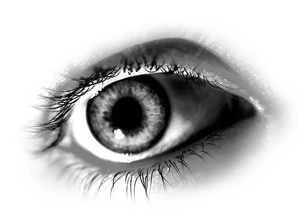 Abstract Black and White Eye stock photo