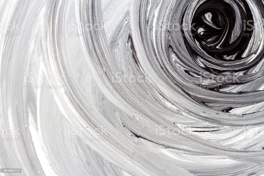 Abstract black and white hand painted background royalty-free stock photo