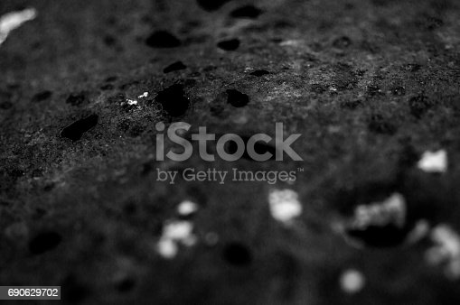 585055656 istock photo abstract black and white ,iron with dust 690629702