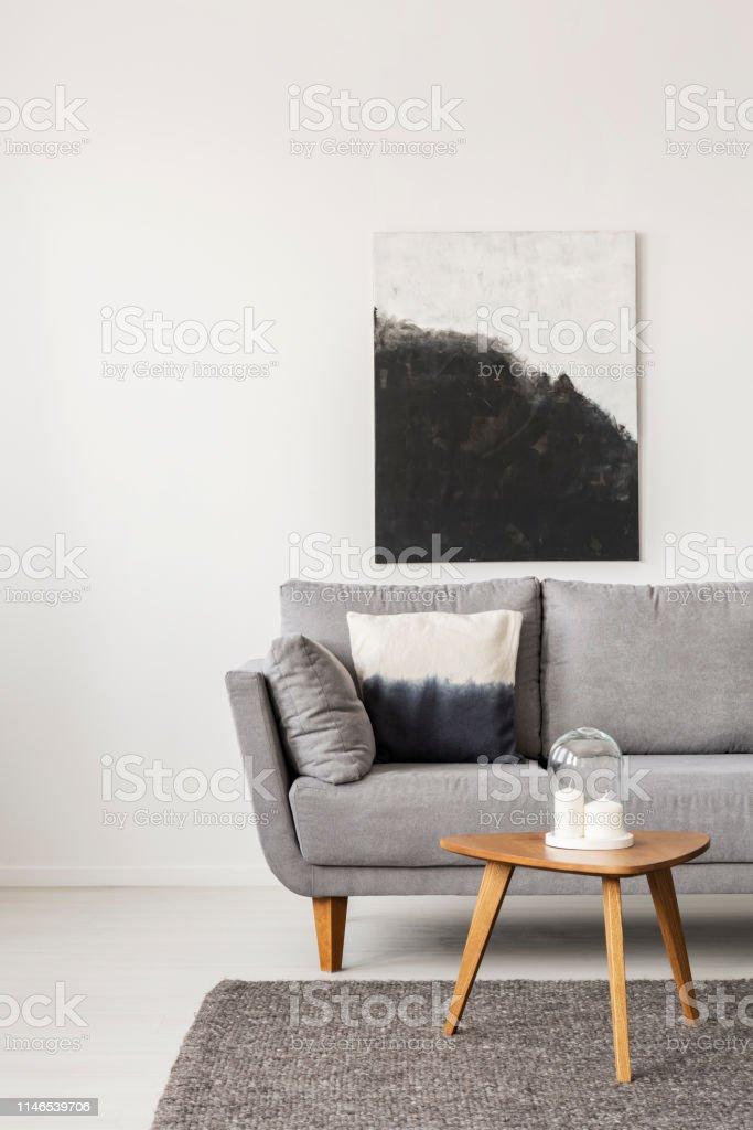 Photo Libre De Droit De Peinture Abstraite Noir Et Blanc Sur