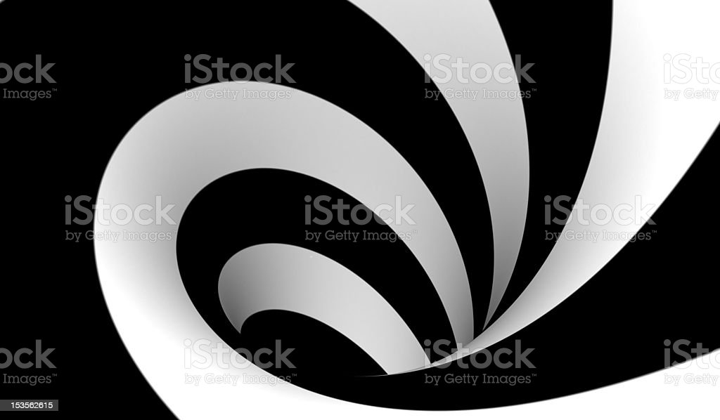 Abstract black and white spiral royalty-free stock photo