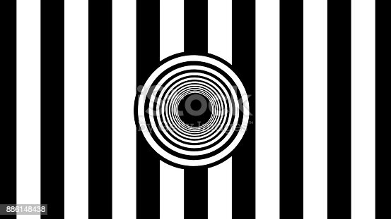 istock Abstract Black and White stripes. 3d rendering 886148438