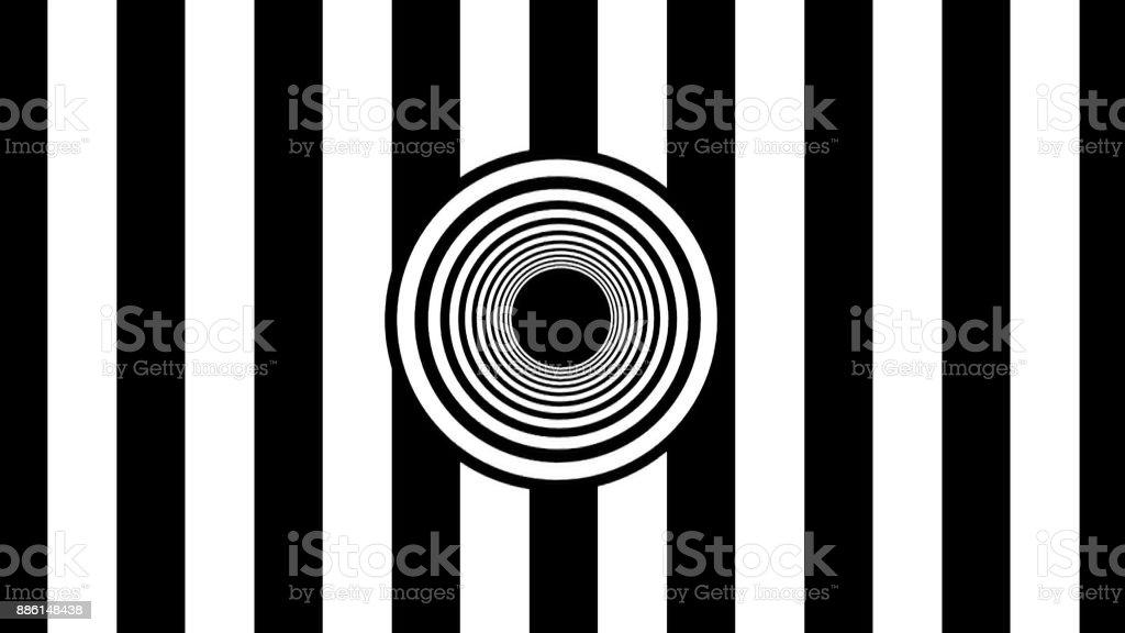 Abstract Black and White stripes. 3d rendering stock photo