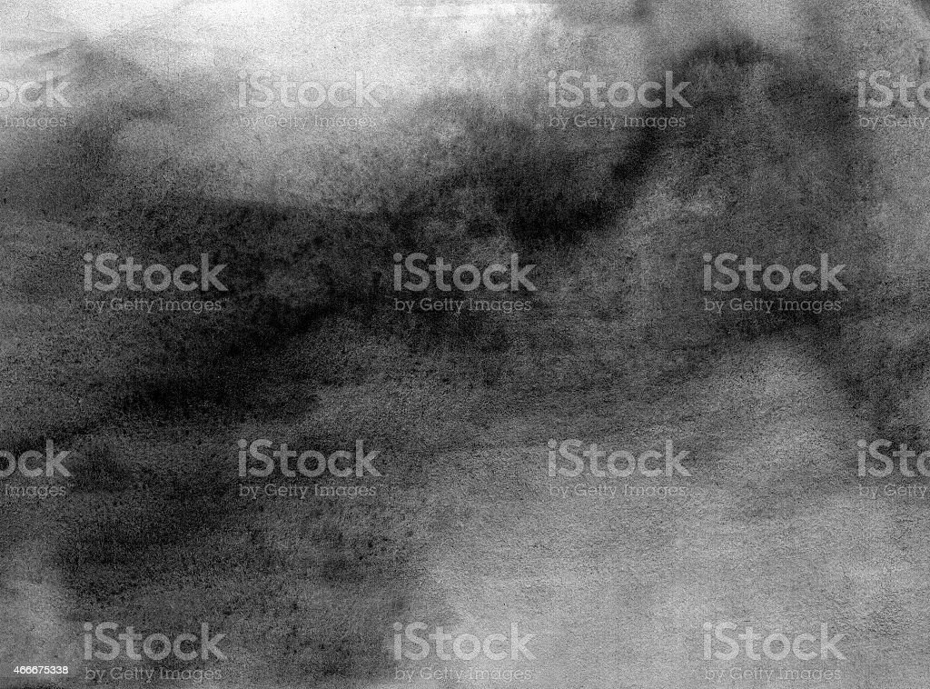 Abstract black and white watercolor painted stock photo