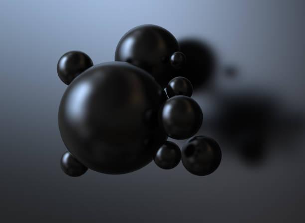 abstract black background - sfera lucida foto e immagini stock