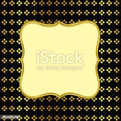 istock Abstract black background with cube shapes and place for text 904654760