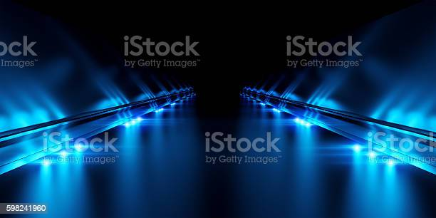 Photo of Abstract black background with illumination