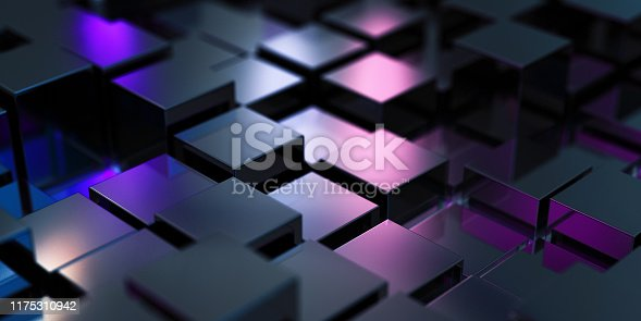 882222132 istock photo Abstract Black Cubes 1175310942