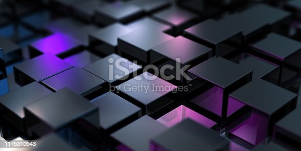882222132 istock photo Abstract Black Cubes 1175310943
