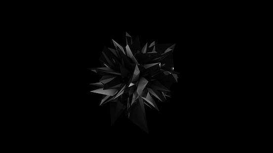 istock Abstract black fractal geometric element 896877734