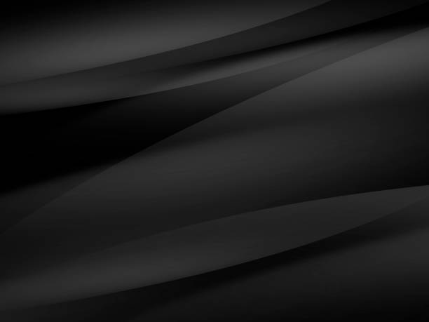 abstract black modern background design - curve stock pictures, royalty-free photos & images