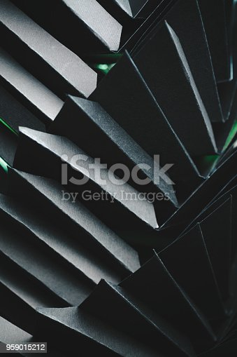 istock Abstract black paper structure 959015212