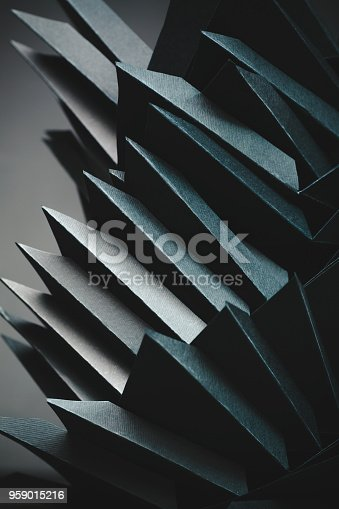 istock Abstract black paper structure 959015216