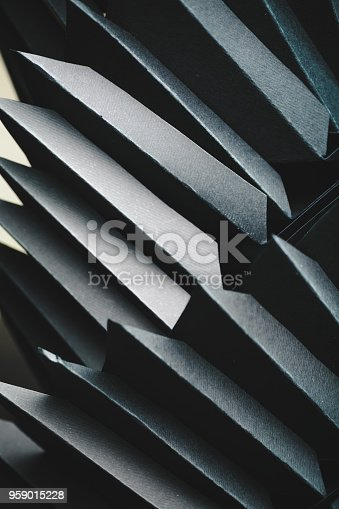 istock Abstract black paper structure 959015228