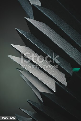 istock Abstract black paper structure 959015262