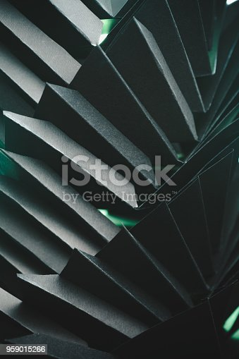 istock Abstract black paper structure 959015266