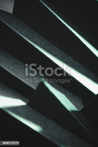 istock Abstract black paper structure 959015270