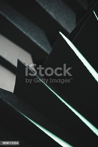 istock Abstract black paper structure 959015304