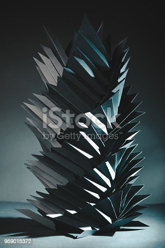 istock Abstract black paper structure 959015372