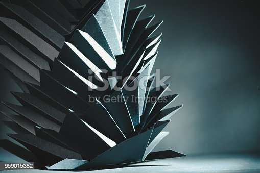 istock Abstract black paper structure 959015382