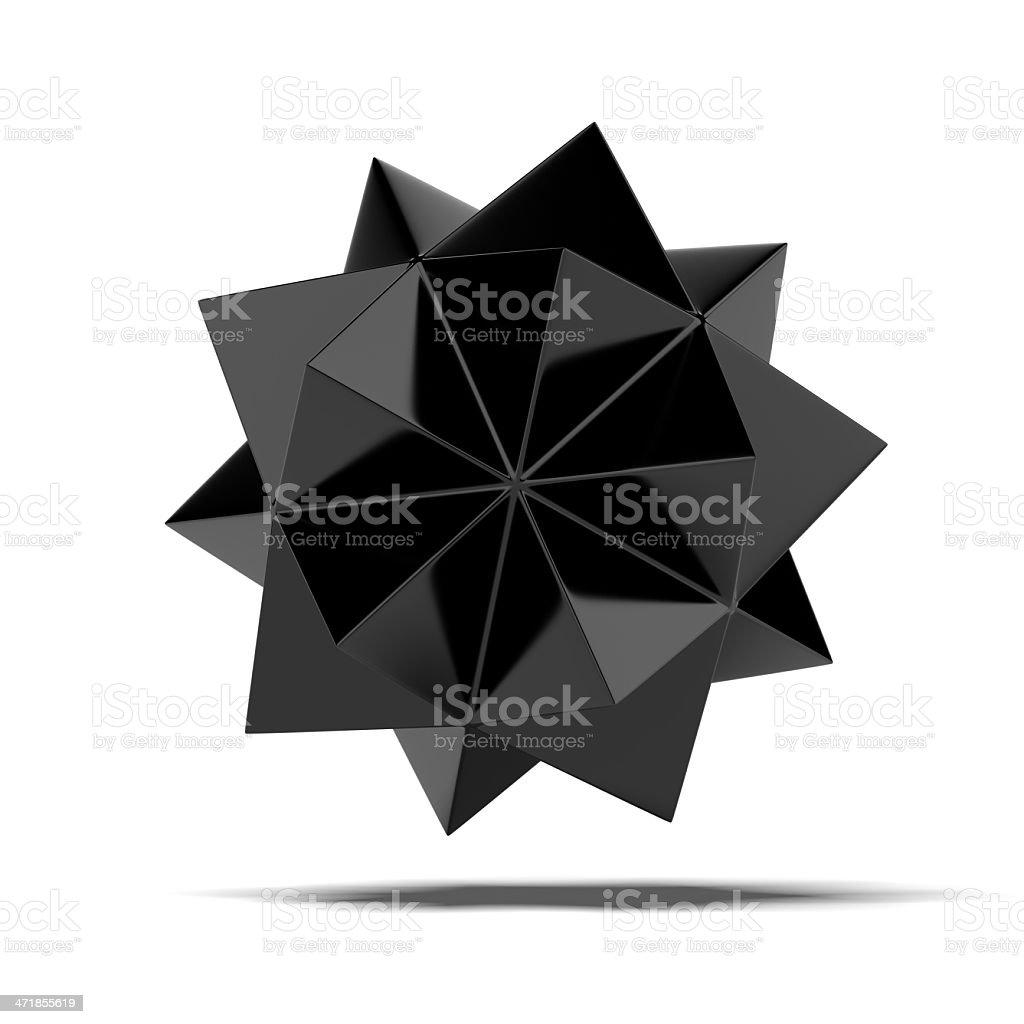 Abstract black shape royalty-free stock photo