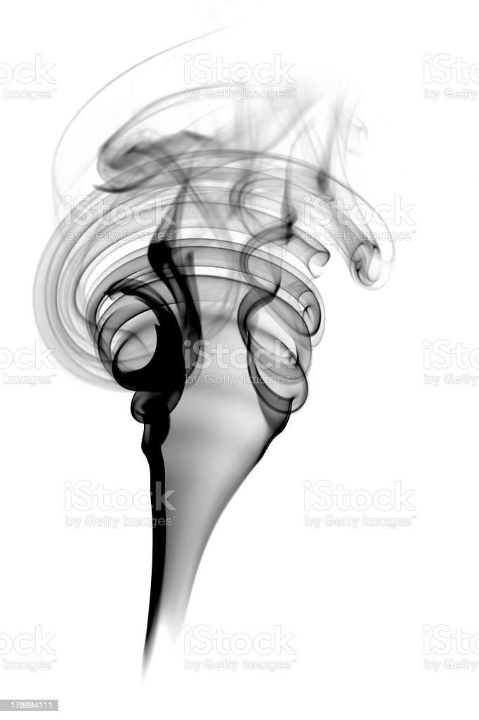 Abstract black smoke royalty-free stock photo