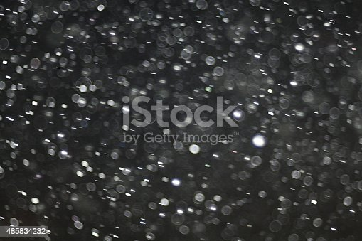 istock Abstract black white snow texture on black background for overlay 485834232