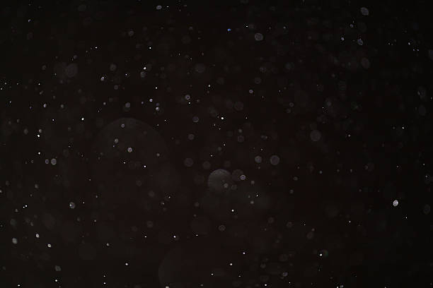 abstract black white snow texture on black background for overlay - dust stock photos and pictures