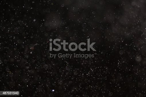 istock Abstract black white snow texture on black background for overlay 487031540