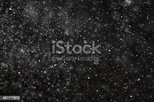 istock Abstract black white snow texture on black background for overlay 487177870