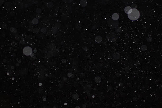 abstract black white snow texture on black background for overlay - black background stock pictures, royalty-free photos & images