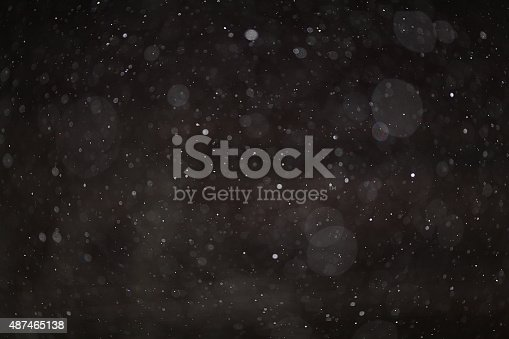 istock Abstract black white snow texture on black background for overlay 487465138
