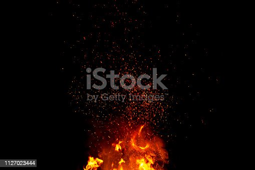 istock Abstract blaze fire flames texture background 1127023444