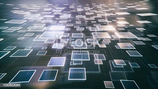 istock Abstract blockchain background 1030833054