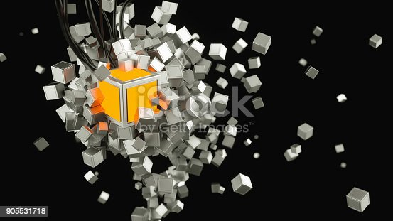 675926042istockphoto Abstract blockchain illustration 905531718