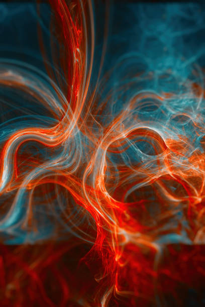 abstract blue and red curves backgrounds stock photo