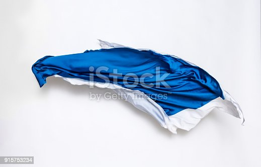544313504 istock photo abstract blue and white fabric in motion 915753234