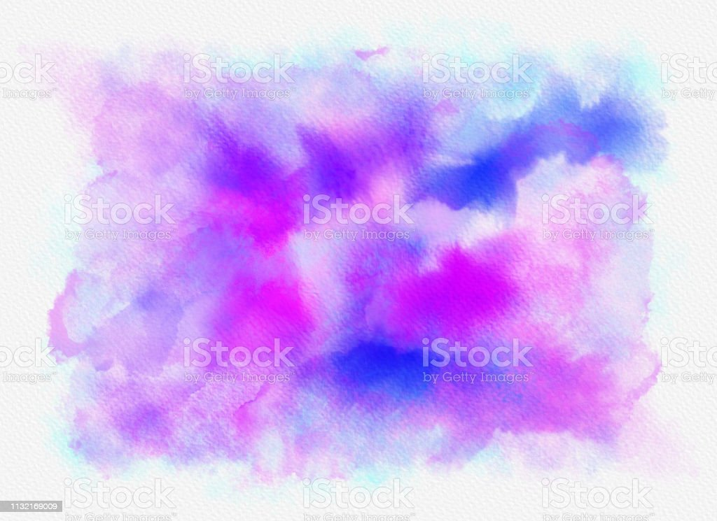 Abstract Blue, aqua, pink and white Painting with Brush Strokes stock photo