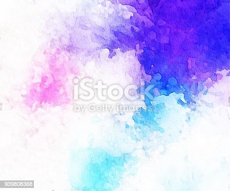 1131857558istockphoto Abstract Blue, aqua, pink and white Painting with Brush Strokes 939808368