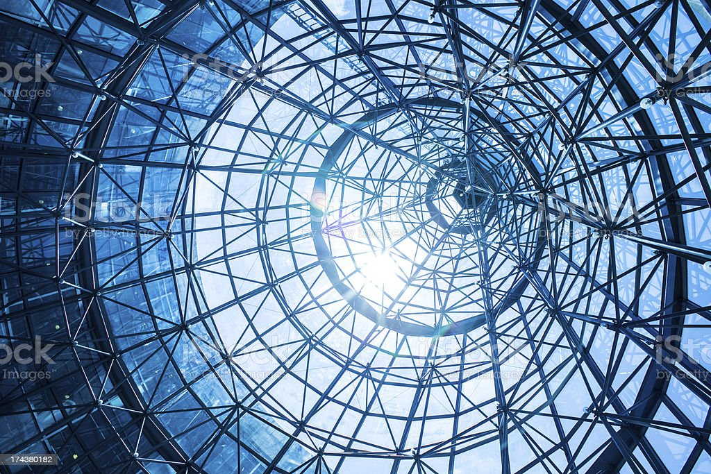 Abstract blue architecture royalty-free stock photo