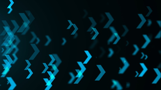 istock Abstract blue arrows background. Technology 838721578