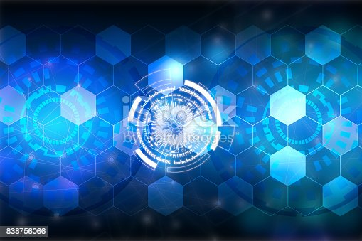 istock Abstract blue background. Technology background.Innovative technologies for industries 838756066