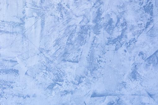 Foto de Fundo Azul Abstrato Textura Da Parede Emplastrada Desigual Putty Com Manchas E Aspereza A Base Para O Layout Ou Site e mais fotos de stock de Abstrato - iStock