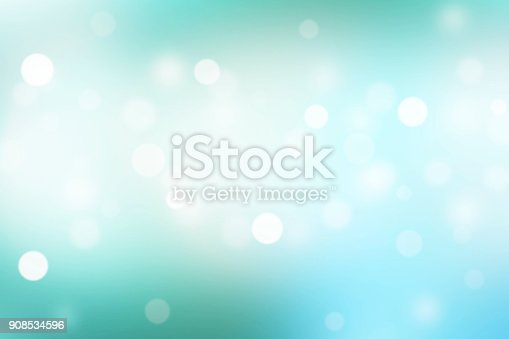 istock Abstract blue background with bokeh light effect. 908534596