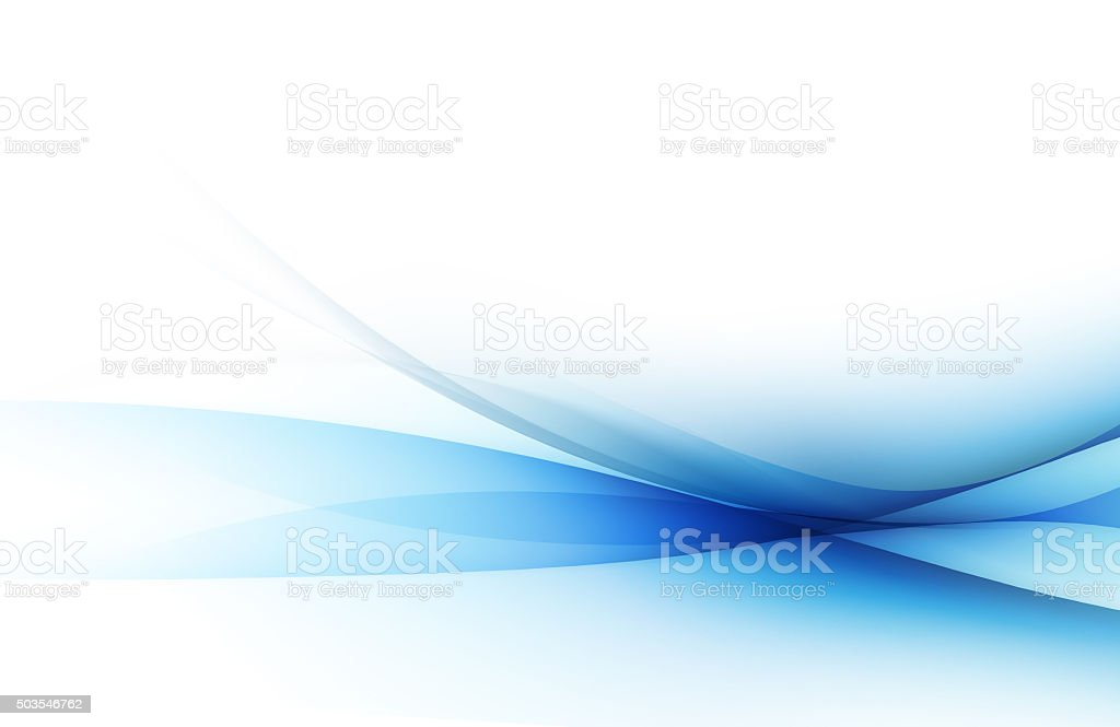 Abstract blue background with curved lines stock photo