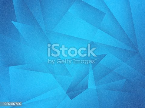 istock abstract blue background with layers of transparent shapes in random pattern, cool modern background design for website or graphic art projects 1020497890