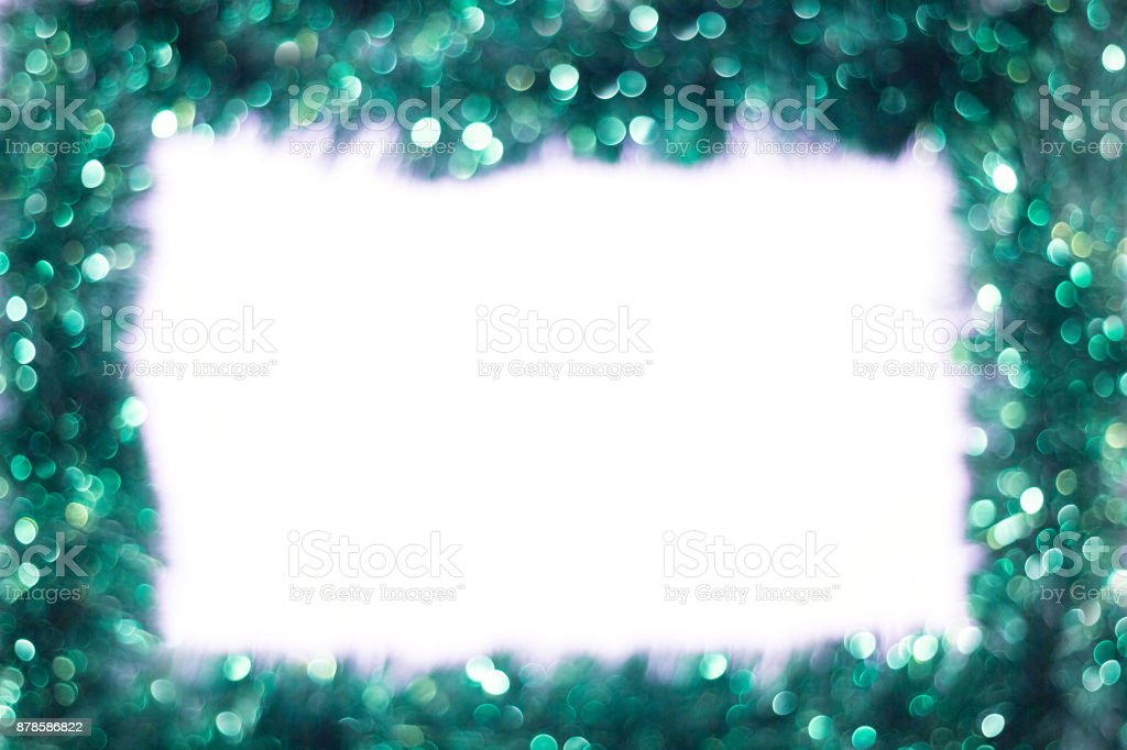 Abstract blue blurred border background for Christmas stock photo