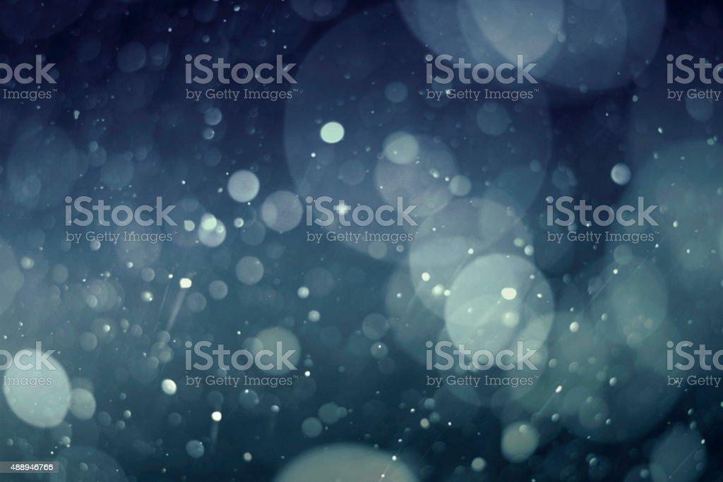 Abstrakt Blau bokeh Hintergrund – Foto